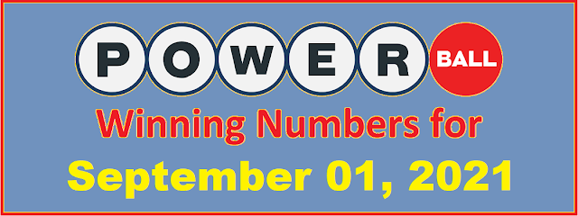 PowerBall Winning Numbers for Wednesday, September 01, 2021
