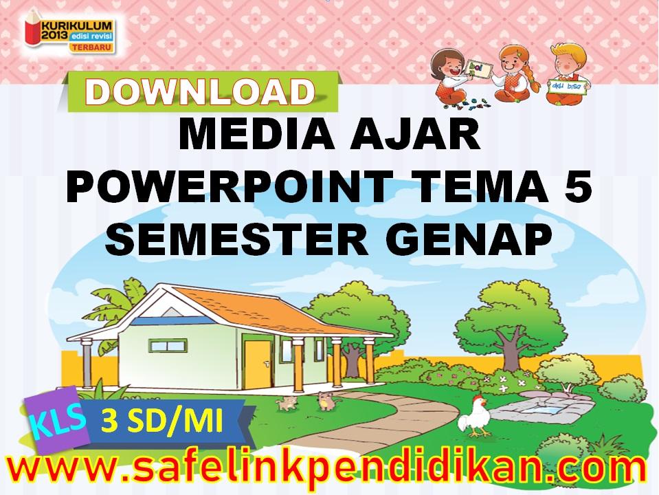 Media Ajar Powerpoint Tema 5 Subtema 1 2 3 4 Kelas 3