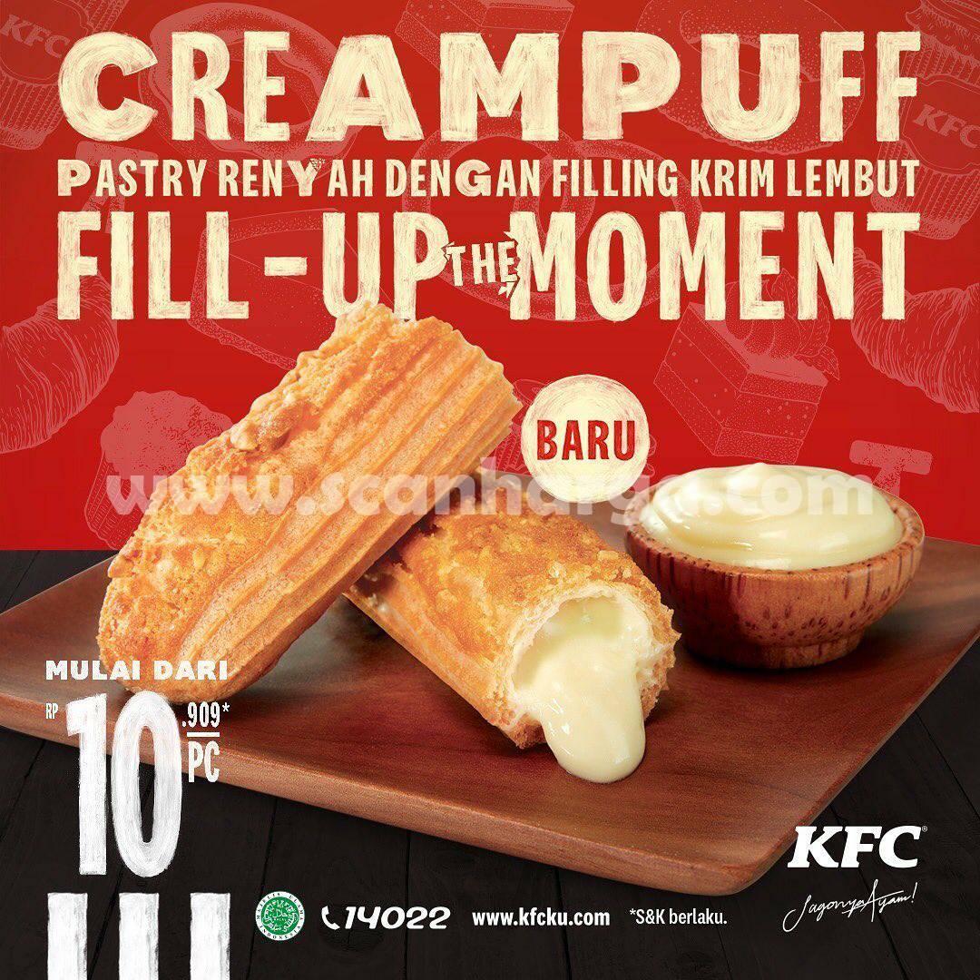 BARU! CREAMPUFF KFC Harga mulai dari Rp 10.909 /Pcs