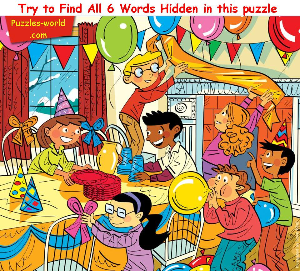 Find Six Words hidden - Part 19