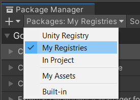 Package Manager My Registry