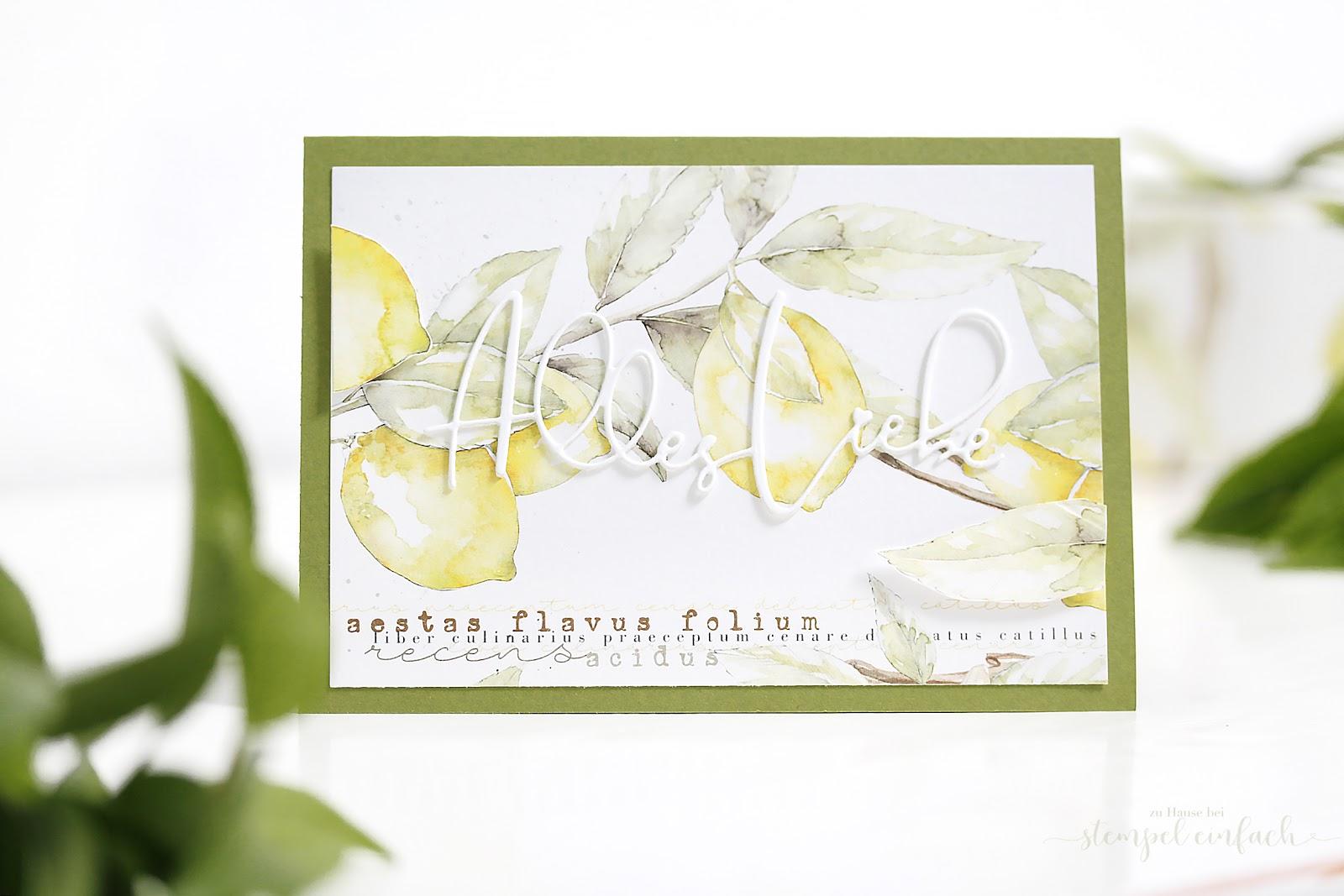 Zitronen Karte -DP Alexandra Renke