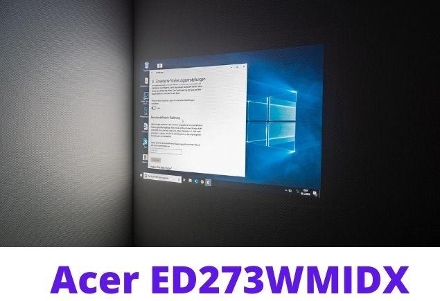 Acer ED273 screen