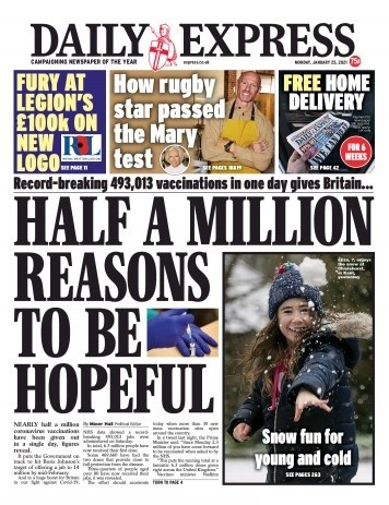 Daily Express 25 January 2021