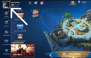 cara mengganti border avatar mobile legends