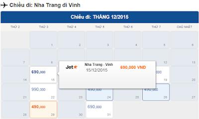 Giá Vé máy bay Nha Trang đi Vinh