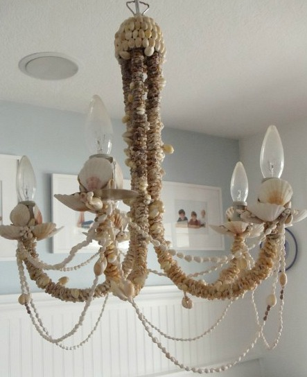 Diy Seashell Chandelier