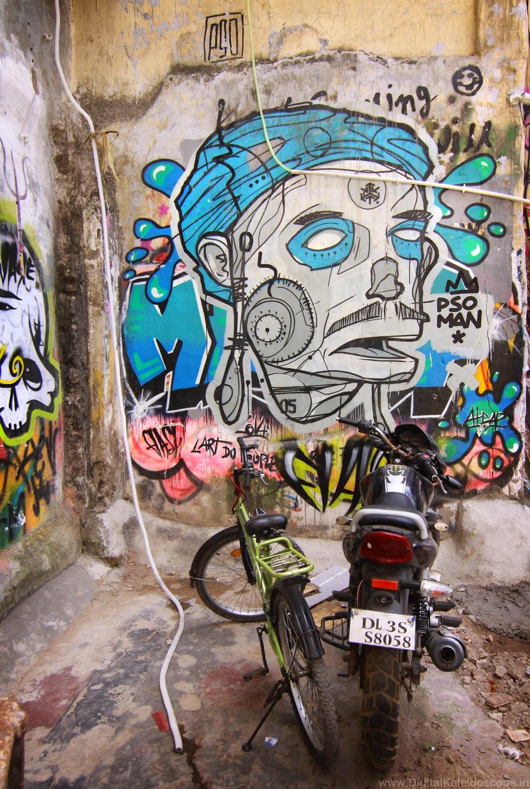 Grafatti in  hauz khas