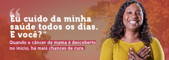 OUTUBRO ROSA: Campanha 2021, tem como tema: Eu cuido da minha saúde todos os dias. E você?