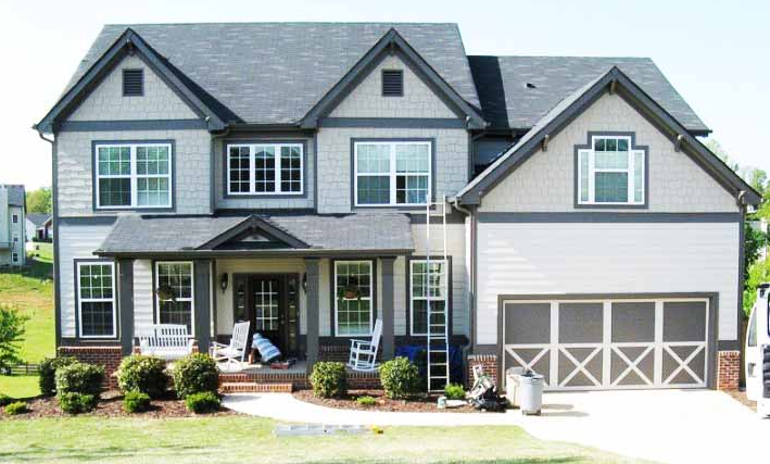 desain rumah kayu minimalis gaya amerika dengan nuansa