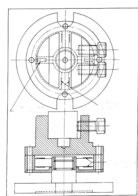 Schematic view of construction of a strain gauge type drillin dynamometer.