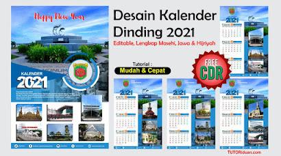 Desain Kalender Dinding 2021 dengan CorelDraw (Free CDR ...