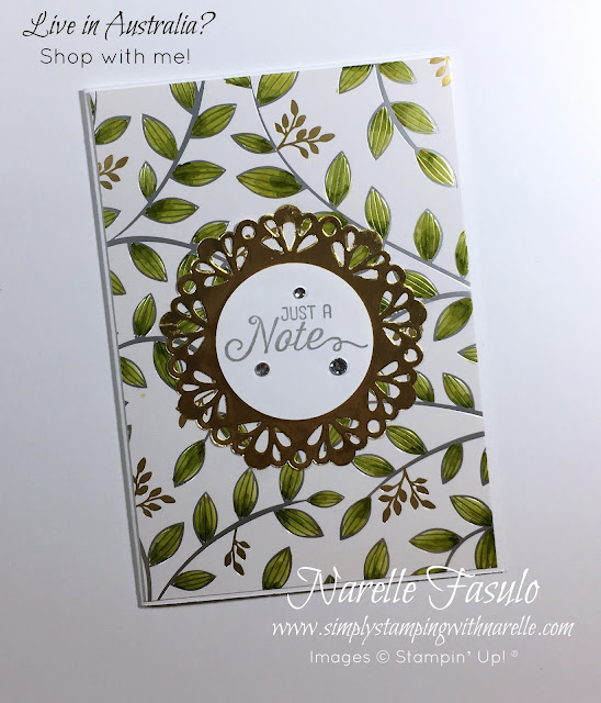 Gorgeous foiled paper. Springtime Foils Specialty Designer Series Paper available FREE with a qualifying order until March 31, 2018 - Get yours here - https://goo.gl/YMqf6R