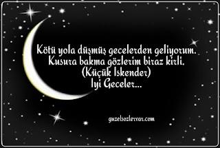İyi geceler mesajı