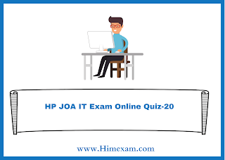 HP JOA IT Exam Online Quiz-20