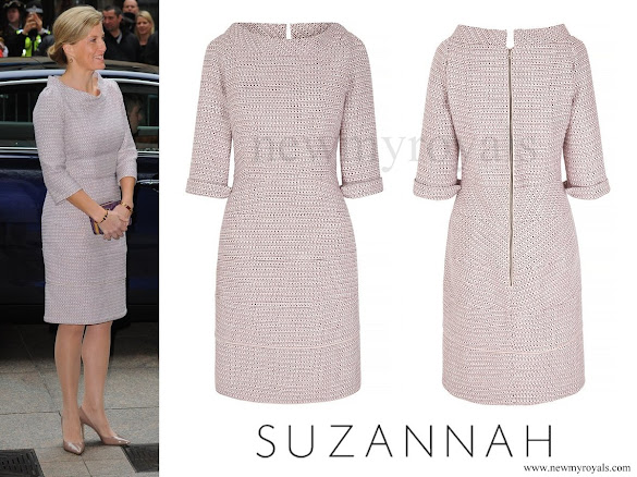 Countess Sophie wore SUZANNAH Kaleidoscope Neat Tweed Dress
