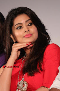 Actress Sneha Latest Stills in Red Dress at Simba Audio Launch  0005.jpg