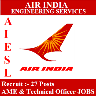 Air India Engineering Service Limited, AIESL, Air India Limited, Delhi, AME, Technical Officer, Graduation, freejobalert, Sarkari Naukri, Latest Jobs, aiesl logo