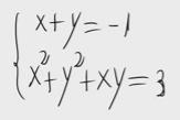 6.Sistema de ecuaciones de segundo grado(sustitución) 6