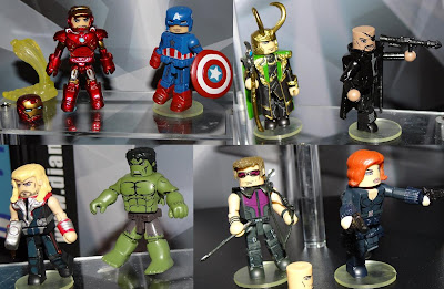First Look: The Avengers Movie Minimates Series - Iron Man, Captain America, Loki, Nick Fury, Thor, The Hulk, Hawkeye & Black Widow