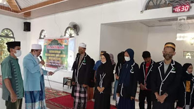 Masa Pandemi, Ketua BKPRMI Wajo Lantik Remaja Masjid Babul Hana Wirae