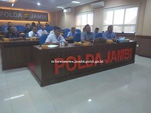 Direskrimum Polda Jambi Pimpin Vicon Anev Kegiatan Operasi Pekat II Tahun 2019