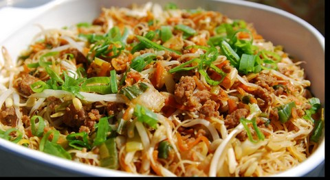 Fried Rice with Vermicelli and Noodles