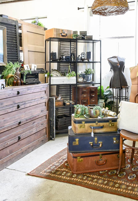 MCM, vintage industrial styled vintage booth