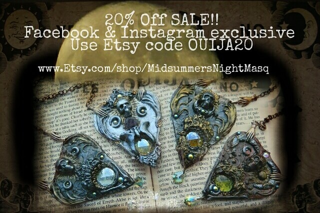 The Midsummer's Night Masquerade : New planchette necklace