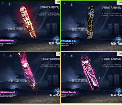 free fire new surfboard skin