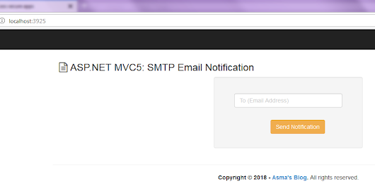 ASP.NET MVC5: SMTP Email Notification