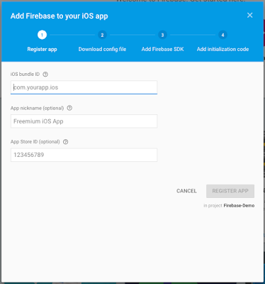 Adding Firebase To iOS Project  pop up