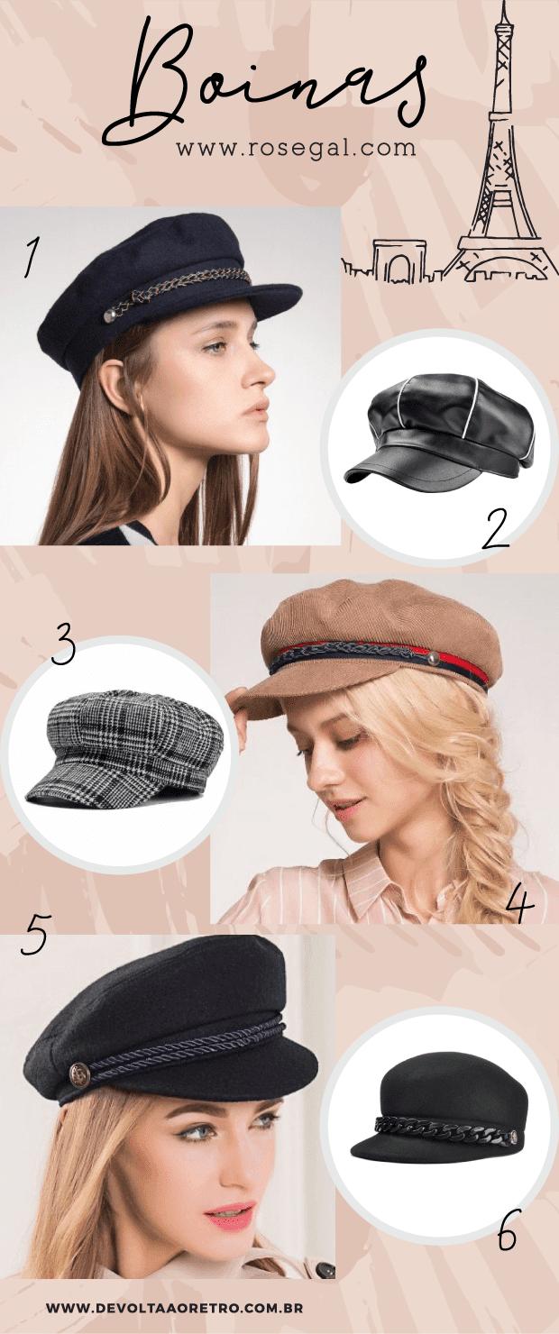 Onde comprar boina, Rosegal, Como usar boina, a volta da boina, como usar quepe, beret, moda retrô, moda vintage