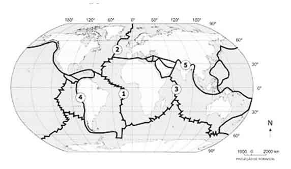 Mapa Placas Tectonicas Para Colorear Mapa