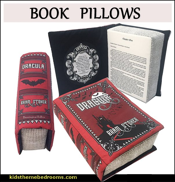 book pillow dracula  Gothic bedroom ideas - Gothic bedroom decor - Gothic bedding - Gothic wall decorations - Gothic furniture - Gothic Wall Murals - Gothic chic - Victorian Gothic boudoir themed decor - gothic living room - vampire bedroom decorating ideas - Graveyard bedroom ideas - Gothic style bedroom decorating ideas