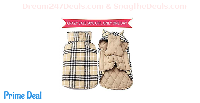 55% OFF Dog Coat Waterproof Windproof Reversible Cold Weather Dog Jacket Warm Winter Dog Clothes