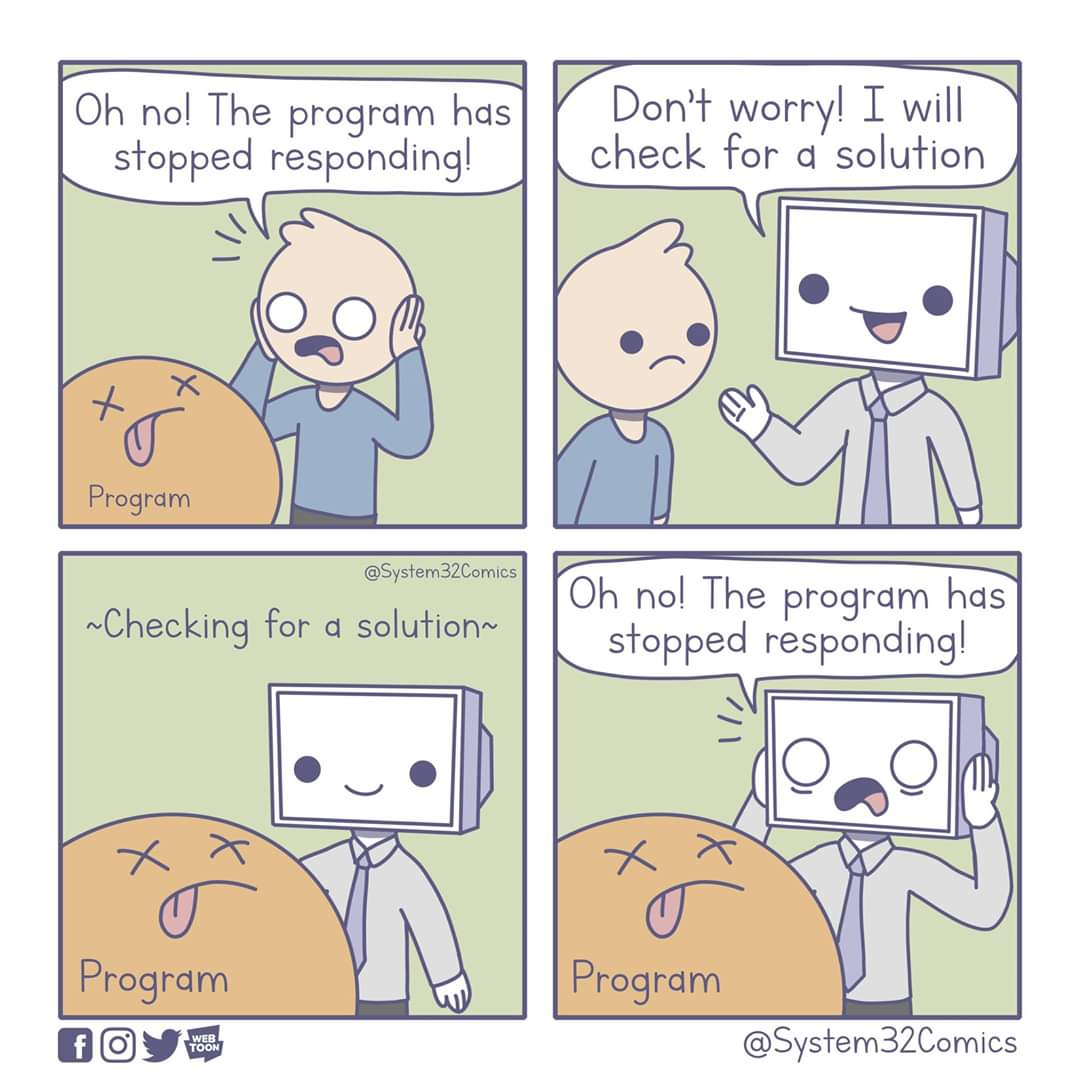 the program has stopped responding