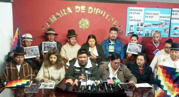MAS llama a la pacificación y pide que se repliegue a militares y policías