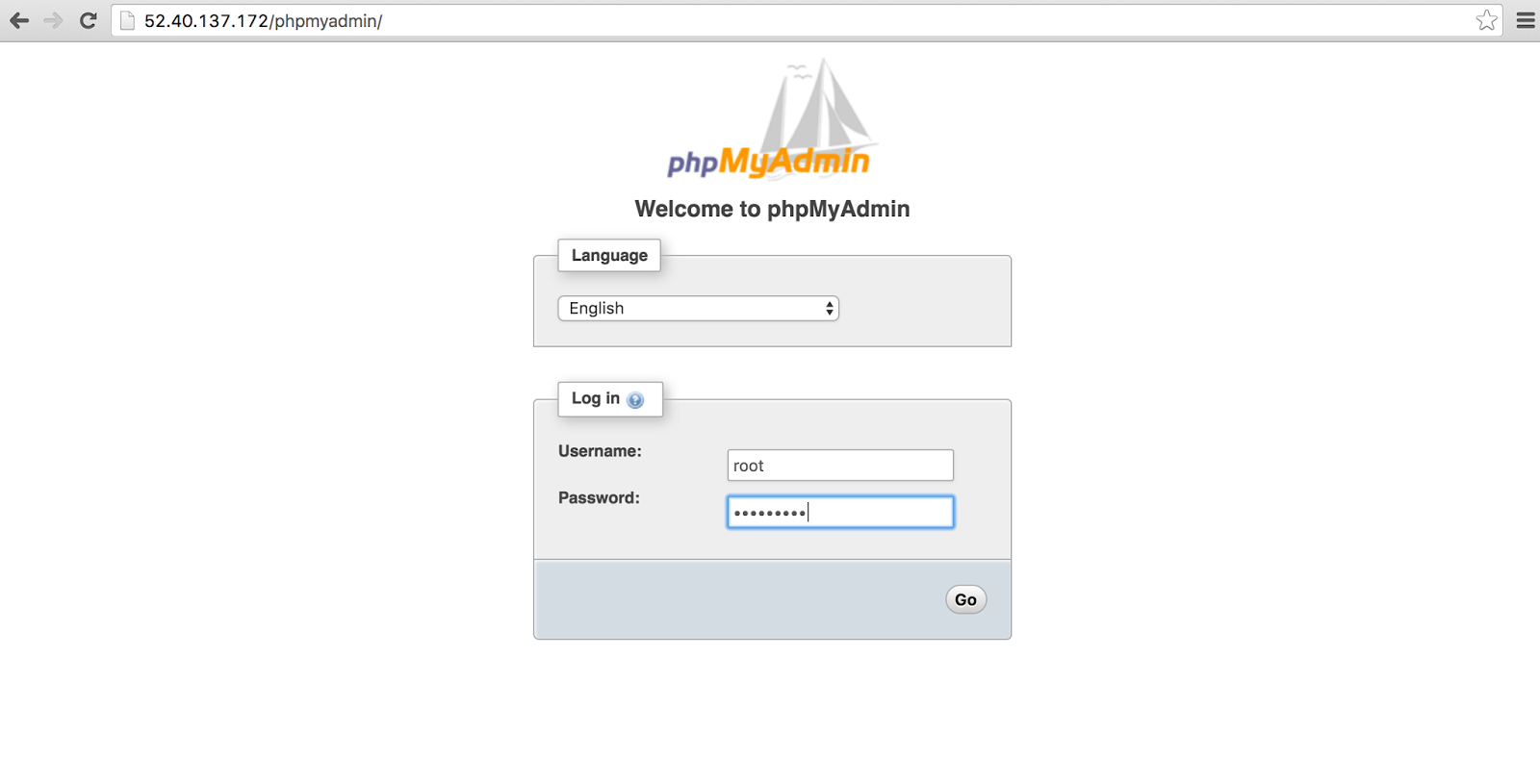 phpmyadmin display