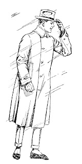 fashion men coat illustration image