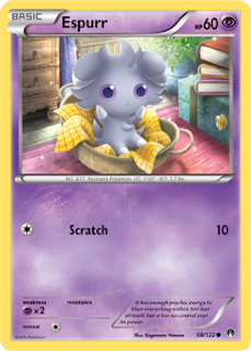 Espurr BREAKpoint Pokemon Card