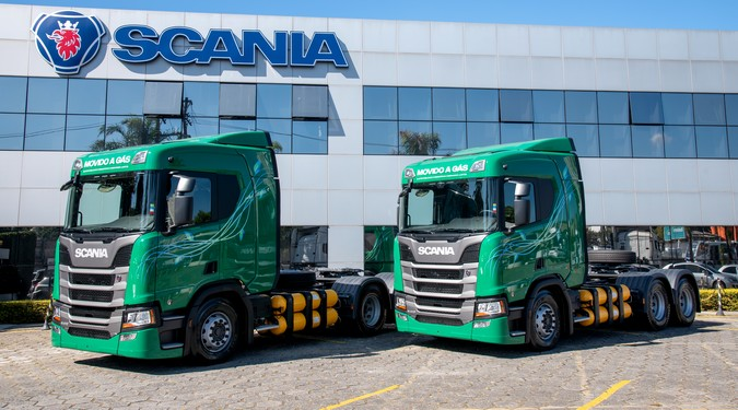 Scania vende 50 caminhões a gás no Brasil em 1 ano