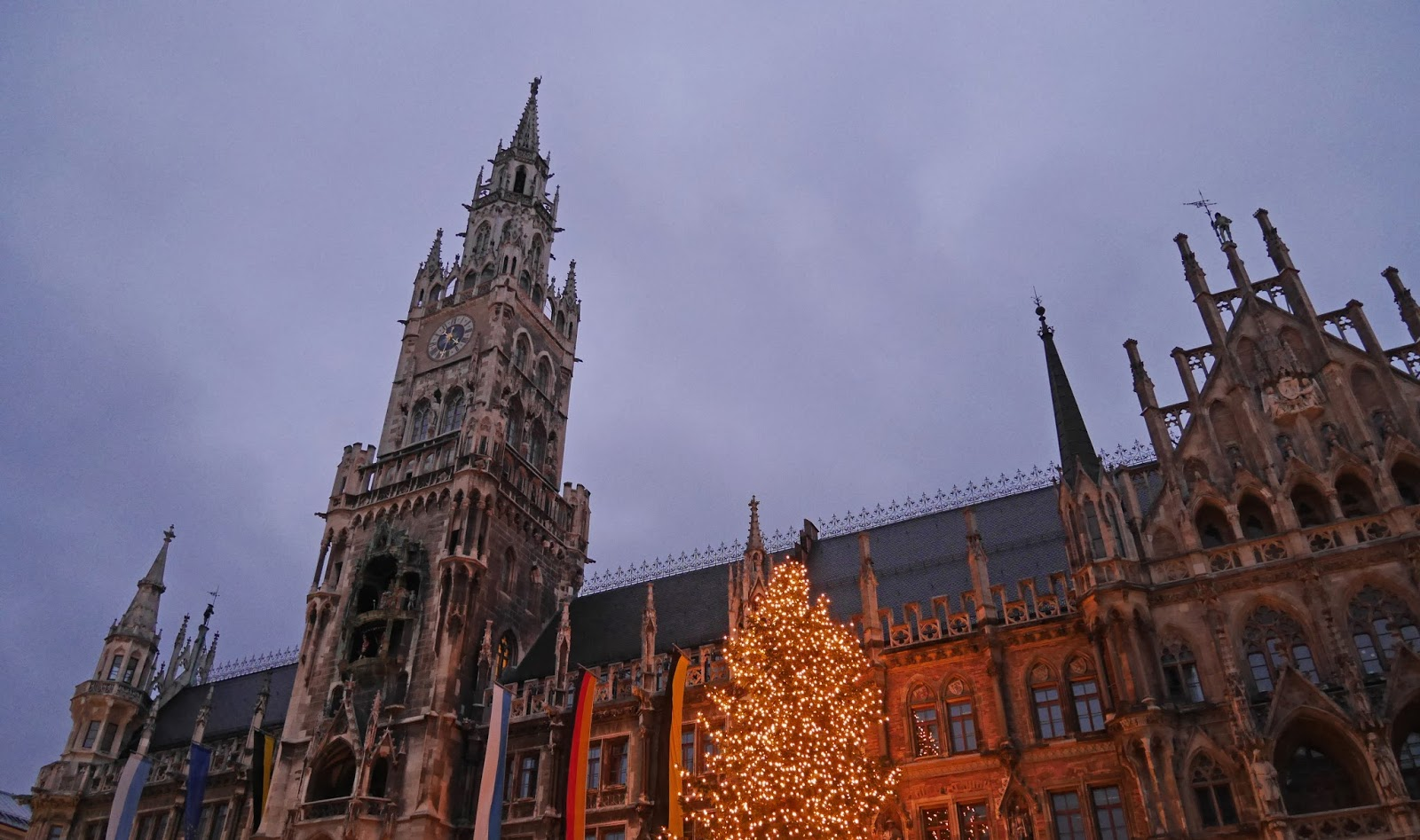 Marienplatz at night, Munich Christmas Markets