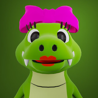 Karakter Bu Aya pada animasi 3D musik dan lagu anak Indonesia Hoala dan Koala