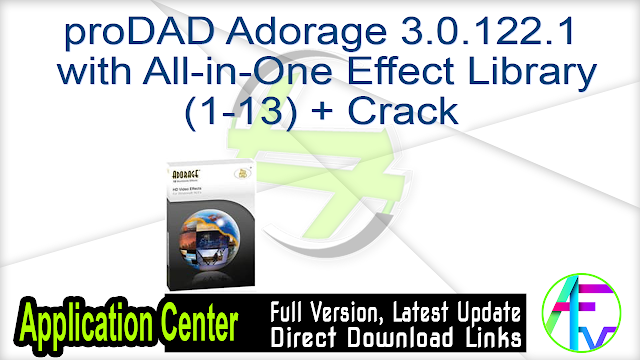 proDAD Adorage 3.0.122.1 with All-in-One Effect Library (1-13) + Crack