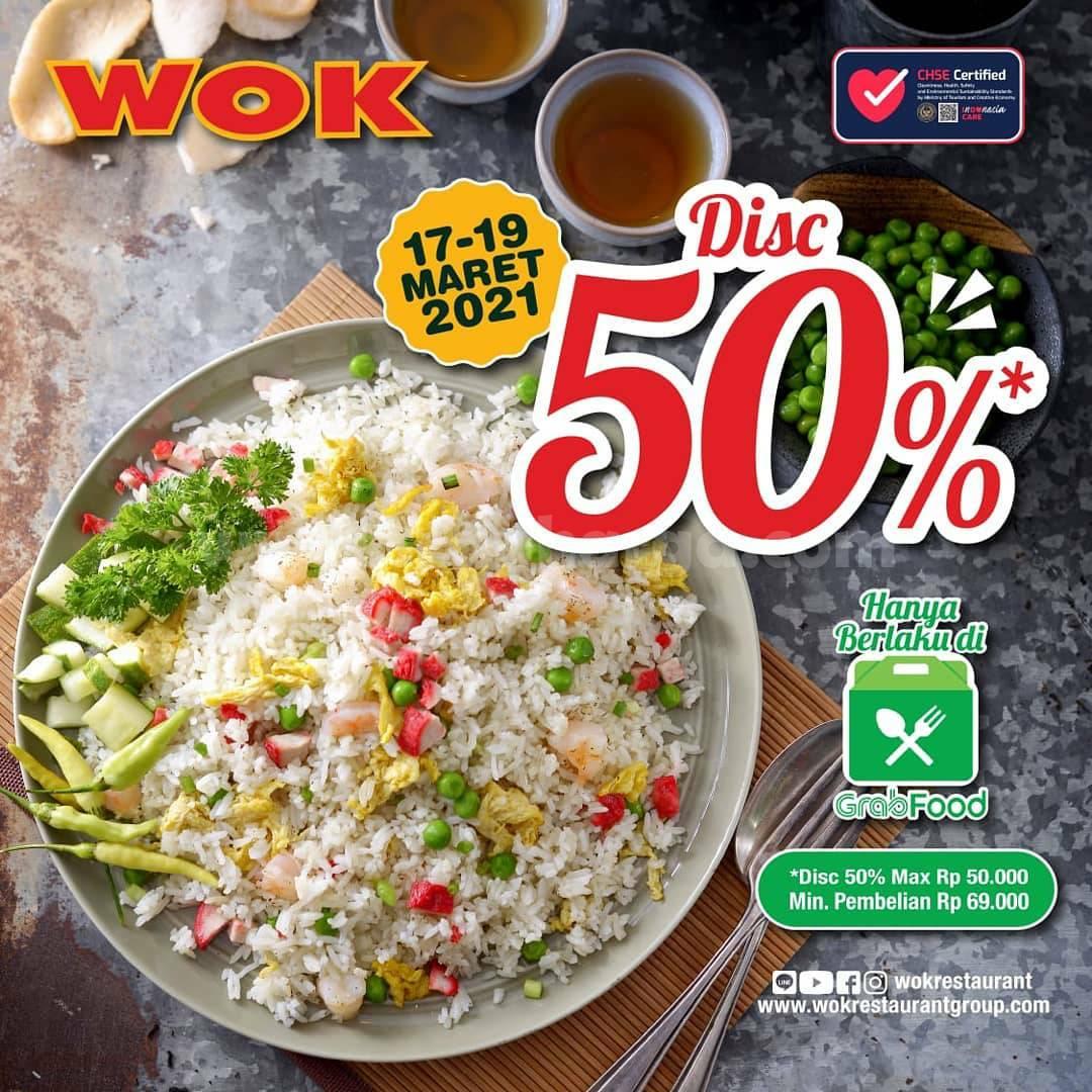 Promo WOK Restaurant TERBARU untuk bulan Maret 2021 - Diskon dan Promo WOK GRABFOOD dapat kalian lihat secara lengkap di SCANHARGA.