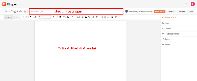 Tutorial memposting artikel di blog