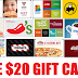 EXPIRED!!!  Free $20 Gift Card to restaurant of your choice!! - Twitter Required