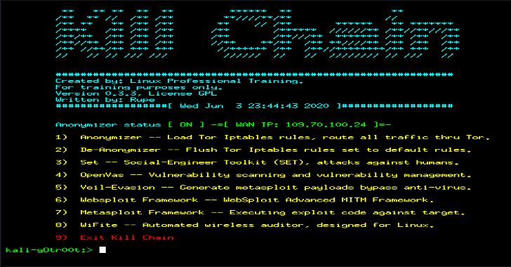 """KillChain : A Unified Console To Perform The """"Kill Chain"""" Stages Of Attacks"""