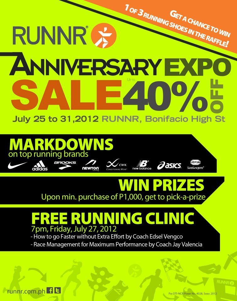 906fdc28ec961f RUNNR Anniversary Expo SALE at BHS July 2012
